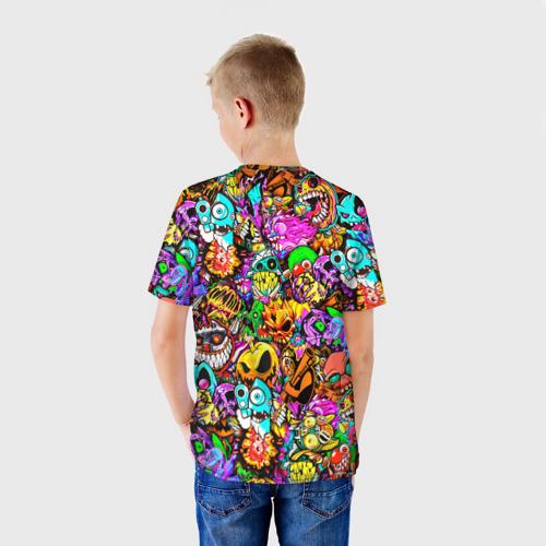 Детская 3D футболка с принтом STANDOFF 2 STICKERS, вид сзади #2