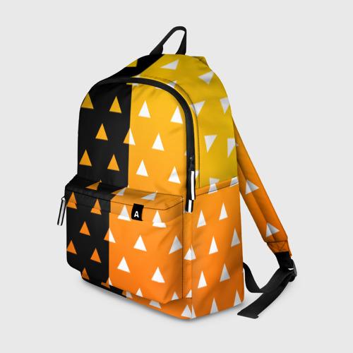 Рюкзак 3D с принтом ZENITSU | ЗЕНИТСУ (КИМОНО), вид спереди #2