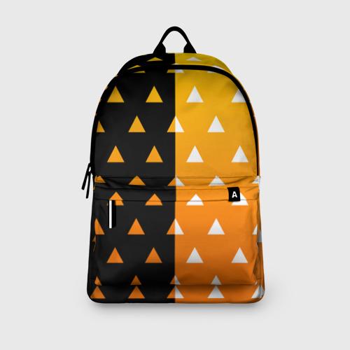 Рюкзак 3D с принтом ZENITSU | ЗЕНИТСУ (КИМОНО), вид сбоку #3