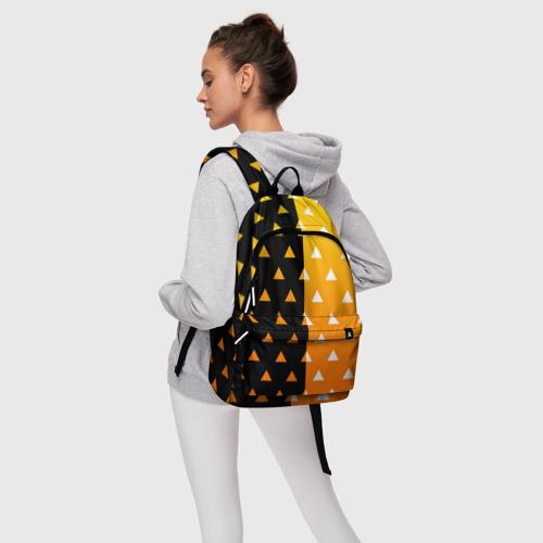 Рюкзак 3D с принтом ZENITSU | ЗЕНИТСУ (КИМОНО), фото #4