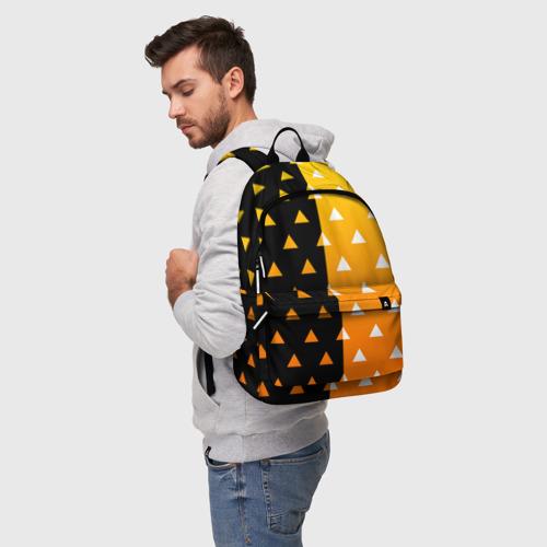 Рюкзак 3D с принтом ZENITSU | ЗЕНИТСУ (КИМОНО), фото на моделе #1
