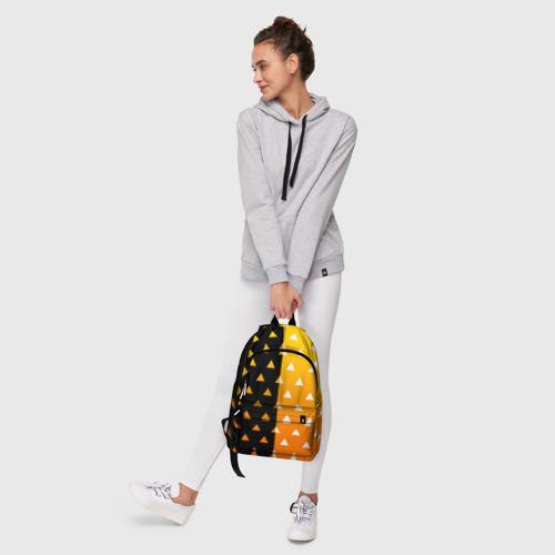 Рюкзак 3D с принтом ZENITSU | ЗЕНИТСУ (КИМОНО), фото #6