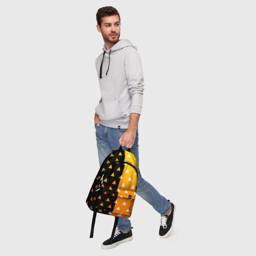Рюкзак 3D с принтом ZENITSU | ЗЕНИТСУ (КИМОНО), фото #5