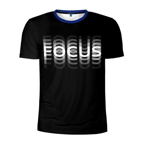 Мужская футболка 3D спортивная с принтом Пьяный / Фокус (Z), вид спереди #2
