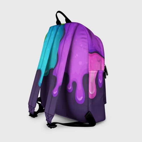 Рюкзак 3D с принтом Among Us Радуга, вид сзади #1