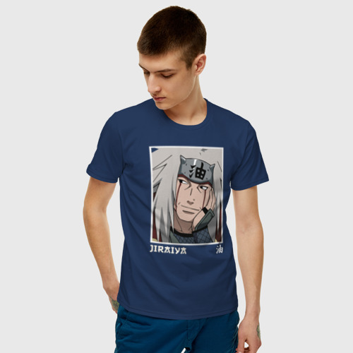 Мужская футболка с принтом Джирайя, фото на моделе #1