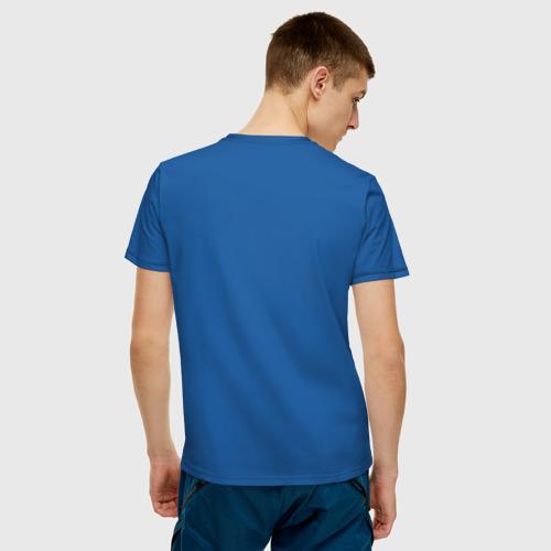 Мужская футболка с принтом Времени на раскачку нет, вид сзади #2