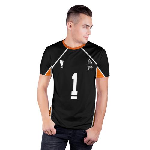 Мужская футболка 3D спортивная с принтом Форма капитана Haikyuu!!, фото на моделе #1
