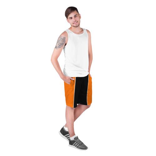 Мужские шорты 3D с принтом Шорты формы Haikyuu!!, фото на моделе #1