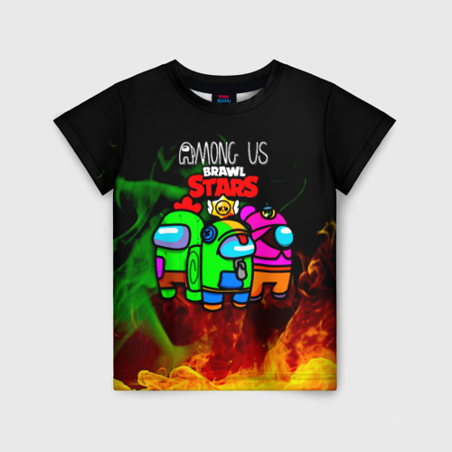 Детская 3D футболка Among Us Brawl StarS
