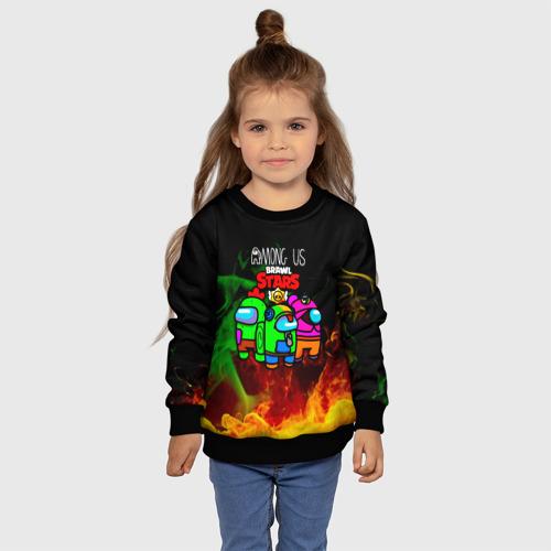 Детский 3D свитшот с принтом Among Us, фото #4