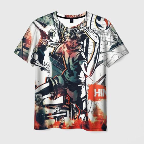 Мужская 3D футболка с принтом Haikyu Haikyuu Haikuu, вид спереди #2