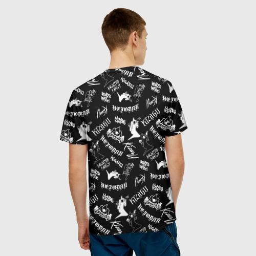 Мужская 3D футболка с принтом KIZARU / HAUNTED FAMILY, вид сзади #2