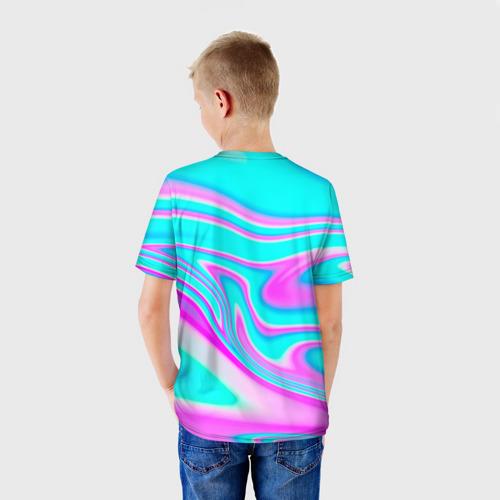 Детская 3D футболка с принтом Impostor Unicorn, вид сзади #2
