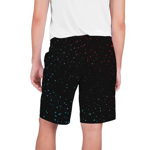 Мужские шорты 3D с принтом AMONG US - Зимний, вид сзади #1