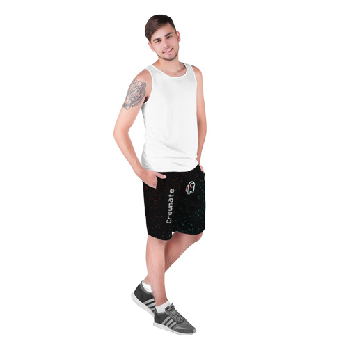 Мужские шорты 3D с принтом AMONG US - Зимний, фото на моделе #1