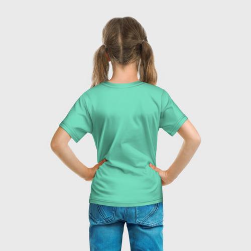 Детская 3D футболка с принтом Sucrose, вид сзади #2