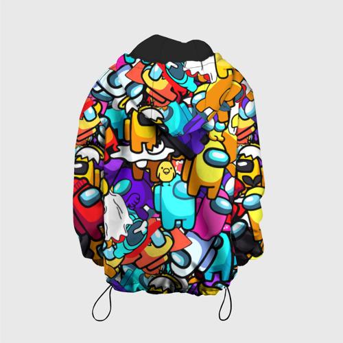 Детская 3D куртка с принтом AMONG US, вид сзади #1