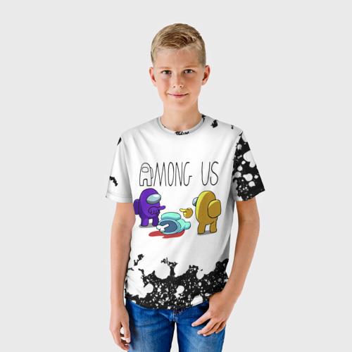 Детская 3D футболка с принтом Among Us (Z), фото на моделе #1