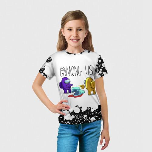 Детская 3D футболка с принтом Among Us (Z), вид сбоку #3