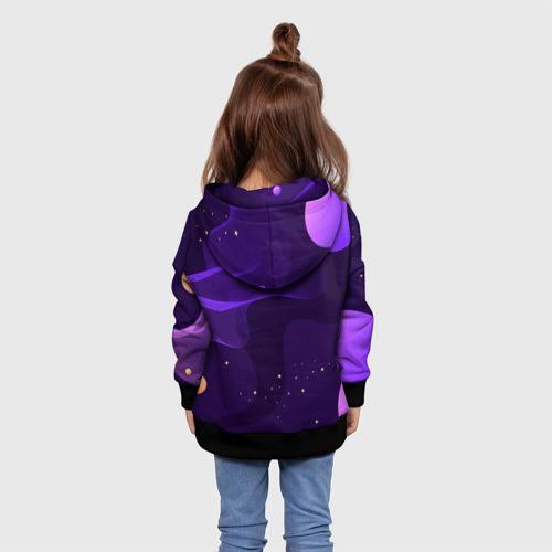 Детская 3D толстовка с принтом Among Us x Fortnite, вид сзади #2