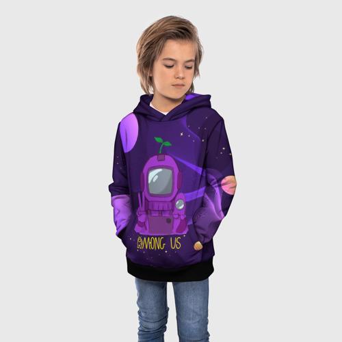 Детская 3D толстовка с принтом Among Us x Fortnite, фото на моделе #1