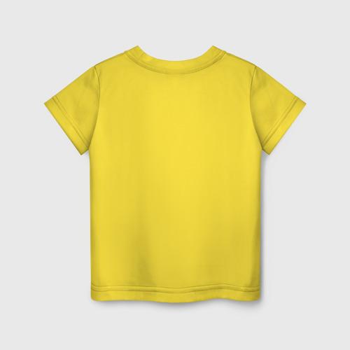 Детская футболка с принтом Among Us Red Imposter Love, вид сзади #1