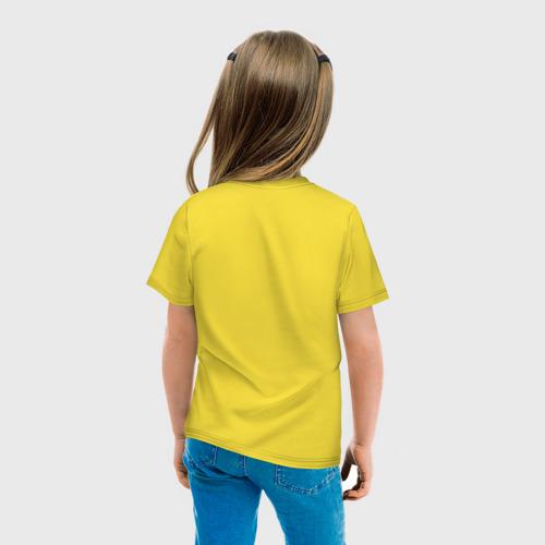 Детская футболка с принтом Among Us Red Imposter Love, вид сзади #2