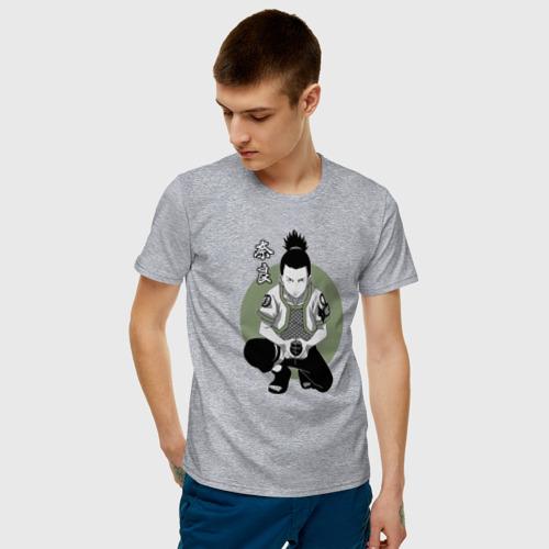 Мужская футболка с принтом Шикамару, фото на моделе #1