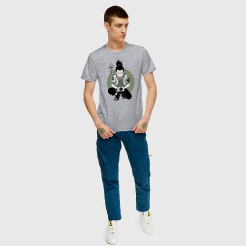 Мужская футболка с принтом Шикамару, вид сбоку #3