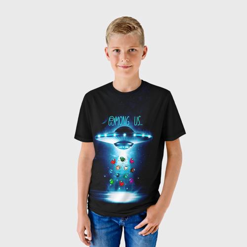 Детская 3D футболка с принтом Среди Нас, фото на моделе #1