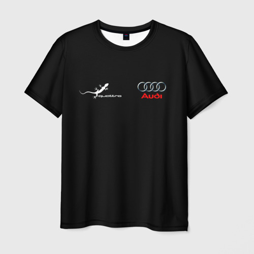Мужская 3D футболка Audi QuaTTro