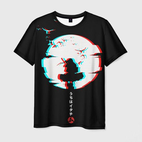 Мужская 3D футболка Итачи Учиха Наруто