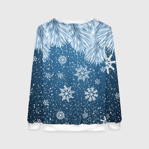 Женский 3D свитшот с принтом Снежное Настроенние, вид сзади #1