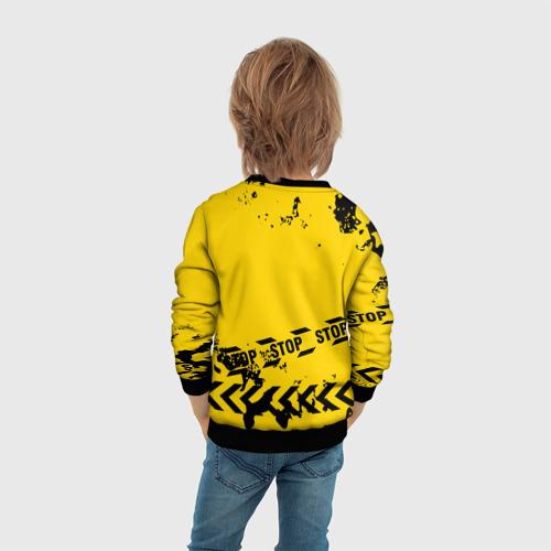 Детский 3D свитшот с принтом AMONG US - BIOHAZARD, вид сзади #2