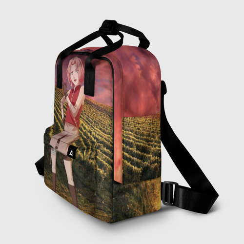 Женский рюкзак 3D с принтом Сакура, фото на моделе #1