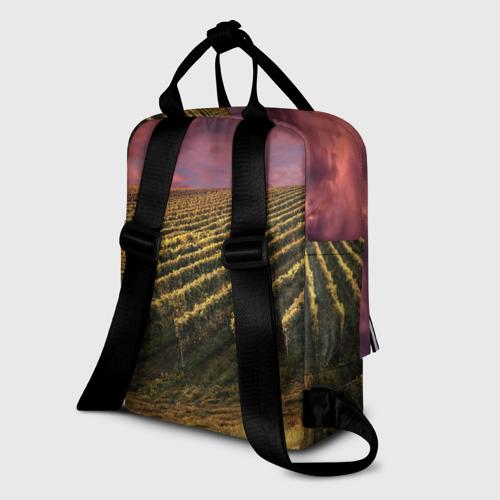 Женский рюкзак 3D с принтом Сакура, вид сзади #1