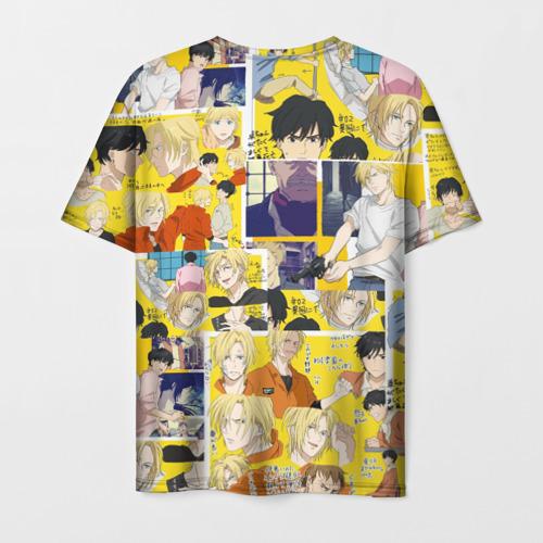 Мужская 3D футболка с принтом BANANA FISH, вид сзади #1