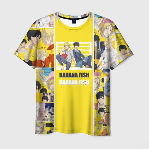 Мужская 3D футболка с принтом BANANA FISH, вид спереди #2