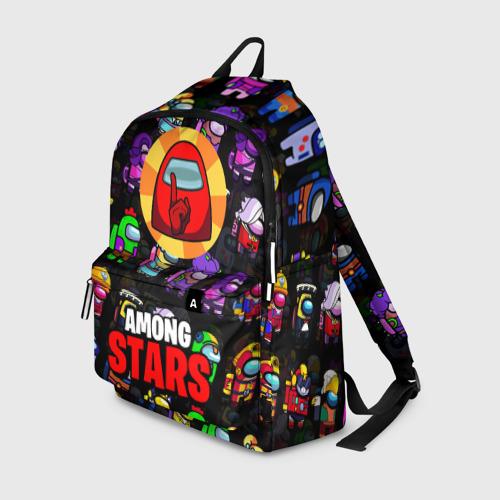 Рюкзак 3D с принтом AMONG US X BRAWL STARS, вид спереди #2