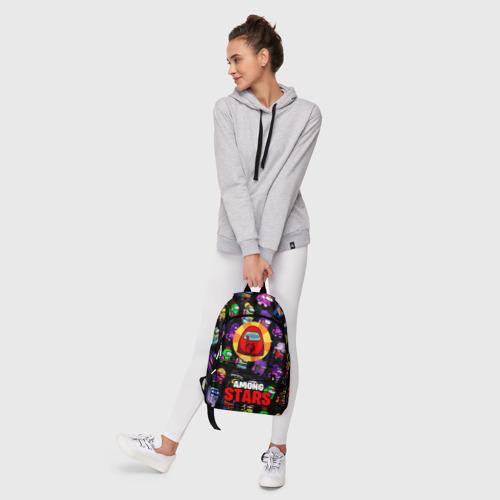 Рюкзак 3D с принтом AMONG US X BRAWL STARS, фото #6