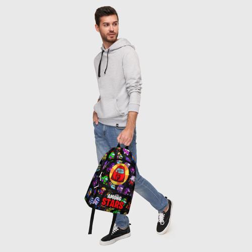 Рюкзак 3D с принтом AMONG US X BRAWL STARS, фото #5