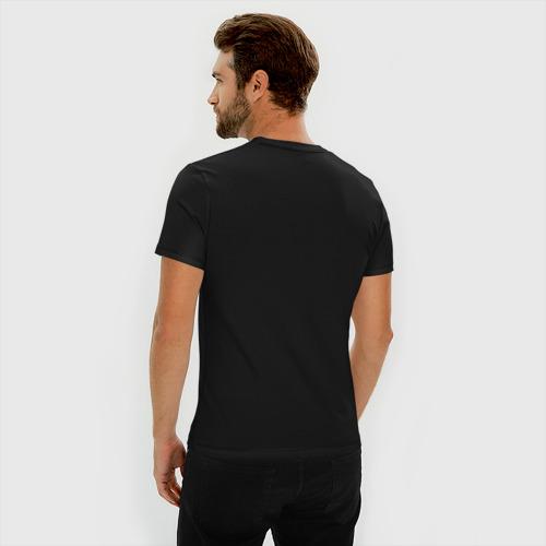 Мужская футболка премиум с принтом ЦИТАТА ВОЛКА, вид сзади #2