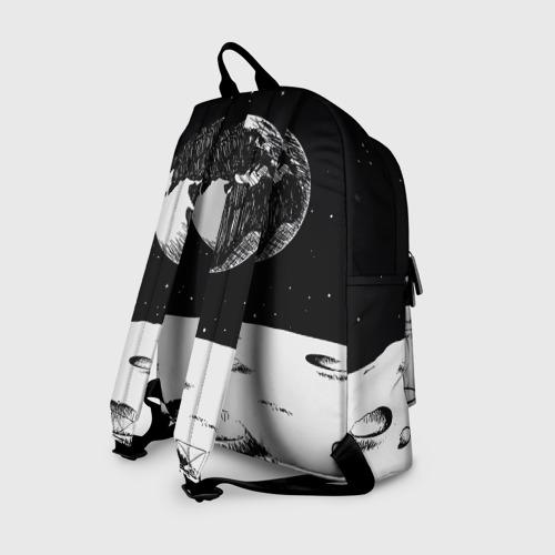 Рюкзак 3D с принтом Among Us fire, вид сзади #1