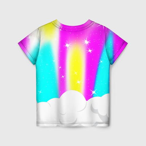 Детская 3D футболка с принтом AMONG US UNICORN, вид сзади #1