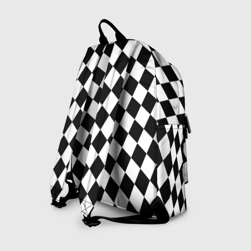 Рюкзак 3D с принтом Клетки, вид сзади #1