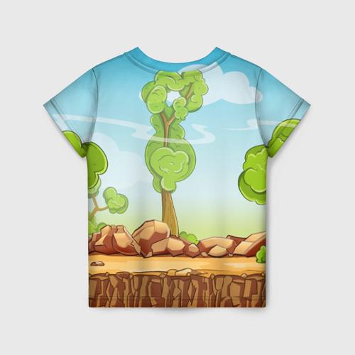 Детская 3D футболка с принтом GERAND, вид сзади #1