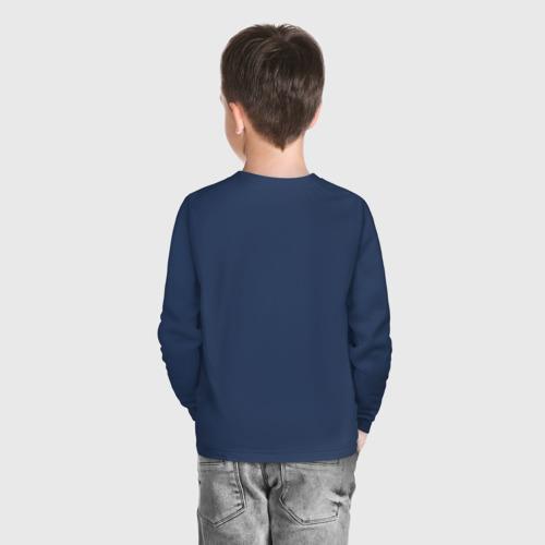 Детский хлопковый лонгслив с принтом Minecraft, вид сзади #2