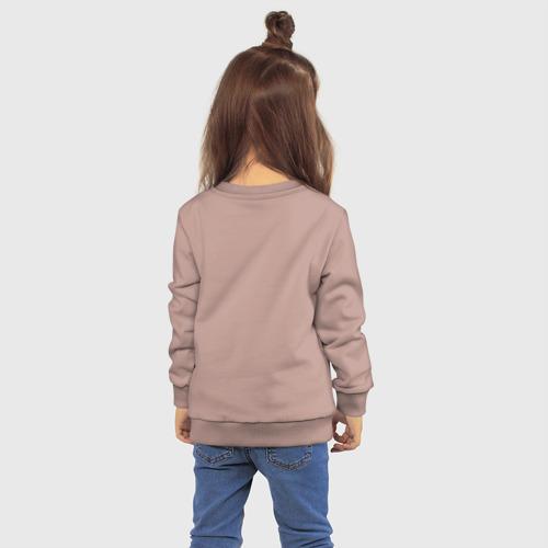 Детский свитшот хлопок с принтом THE BEATLES, вид сзади #2