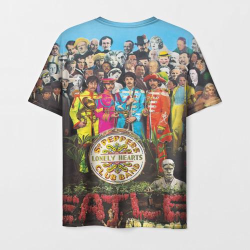 Мужская 3D футболка с принтом THE BEATLES, вид сзади #1